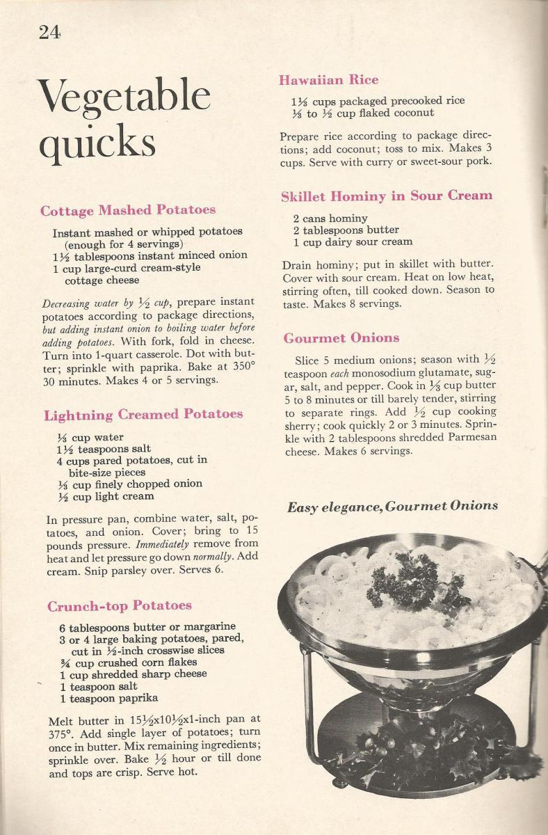 Vintage Recipes Salads Veggies Hot Breads