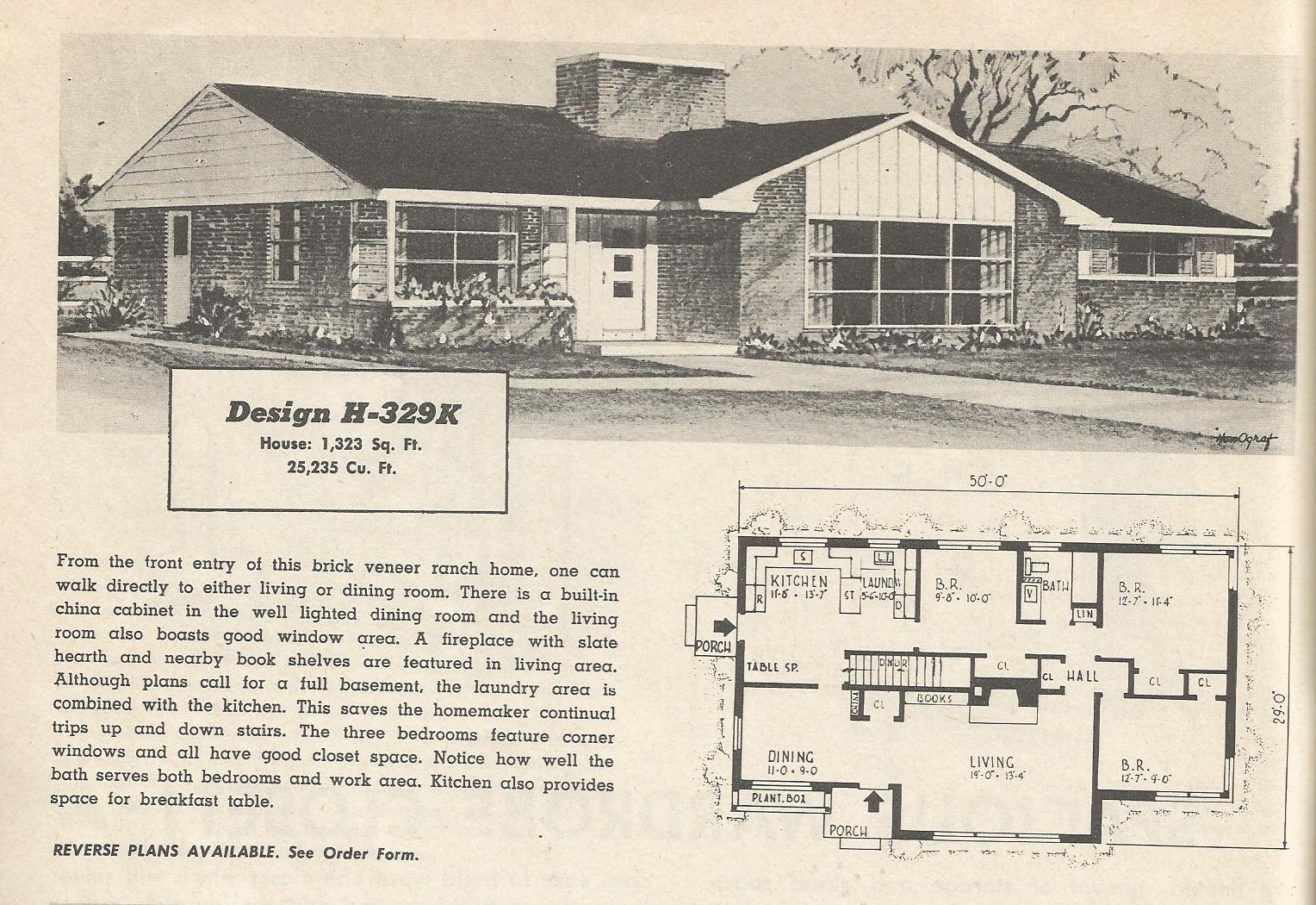 vintage house plans 329?w=300&h=206 vintage house plans 1950s mid century modern and modest part 2,House Plans 1950s