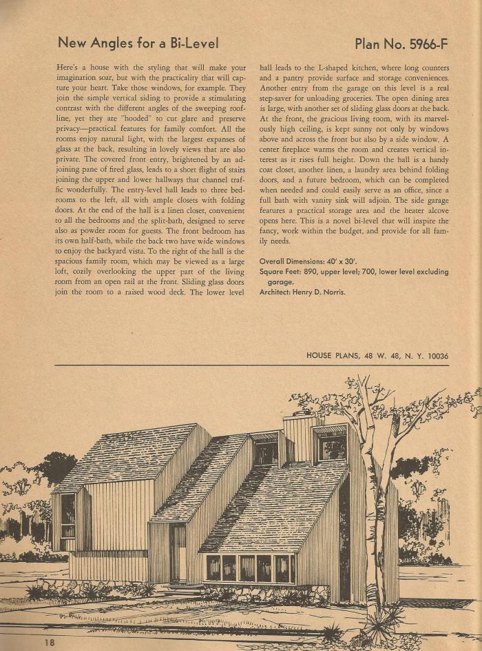 Vintage House Plans, Mid Century Homes, Vintage Houses
