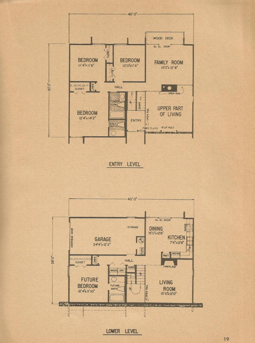 Vintage House Plans, Mid Century Homes, Vintage Houses