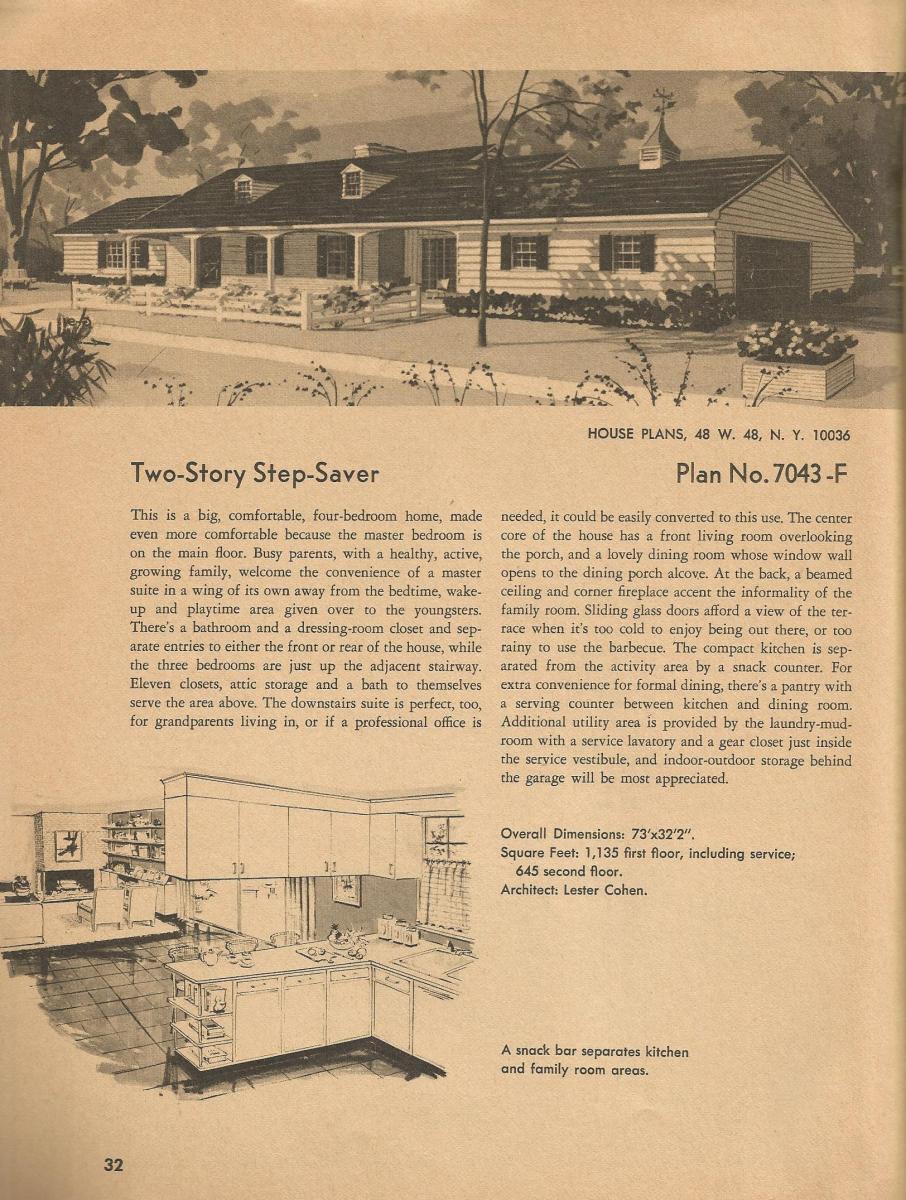 Vintage House Plans, vintage homes, mid century homes