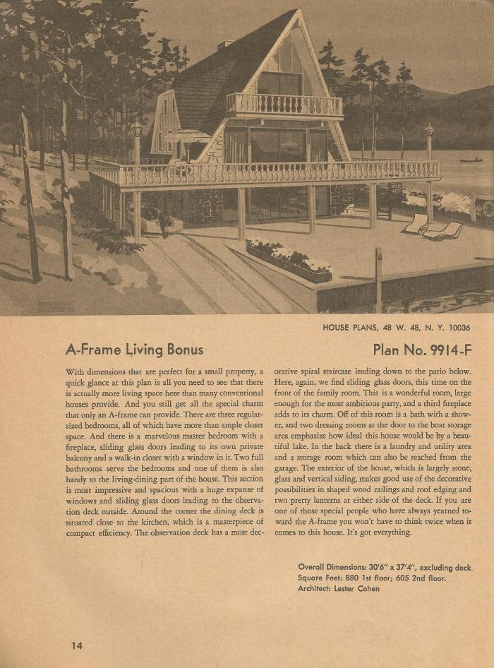 Vintage House Plans, Mid Century Homes,