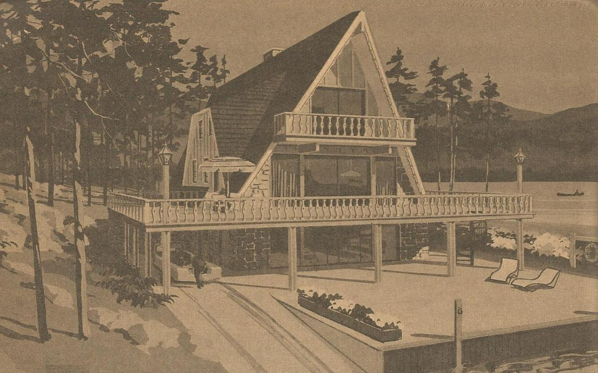 Vintage House Plans A Frame and Split Level