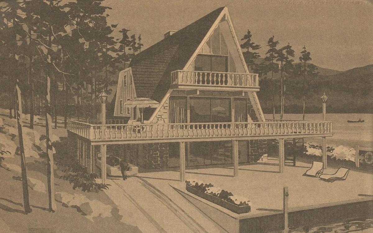 Vintage House Plans A Frame and Split Level
