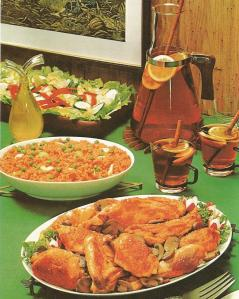 1960s chicken recipes, vintage recipes, baked chicken