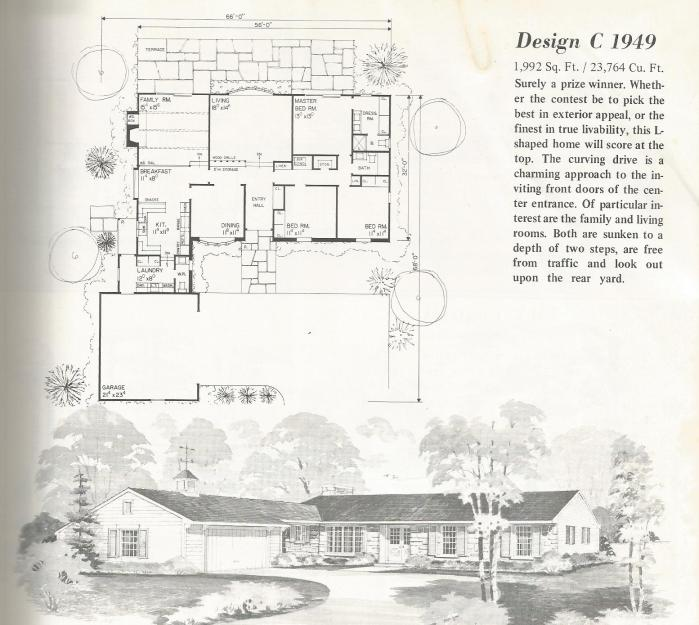 Vintage house plans one story homes antique alter ego for Antique house plans