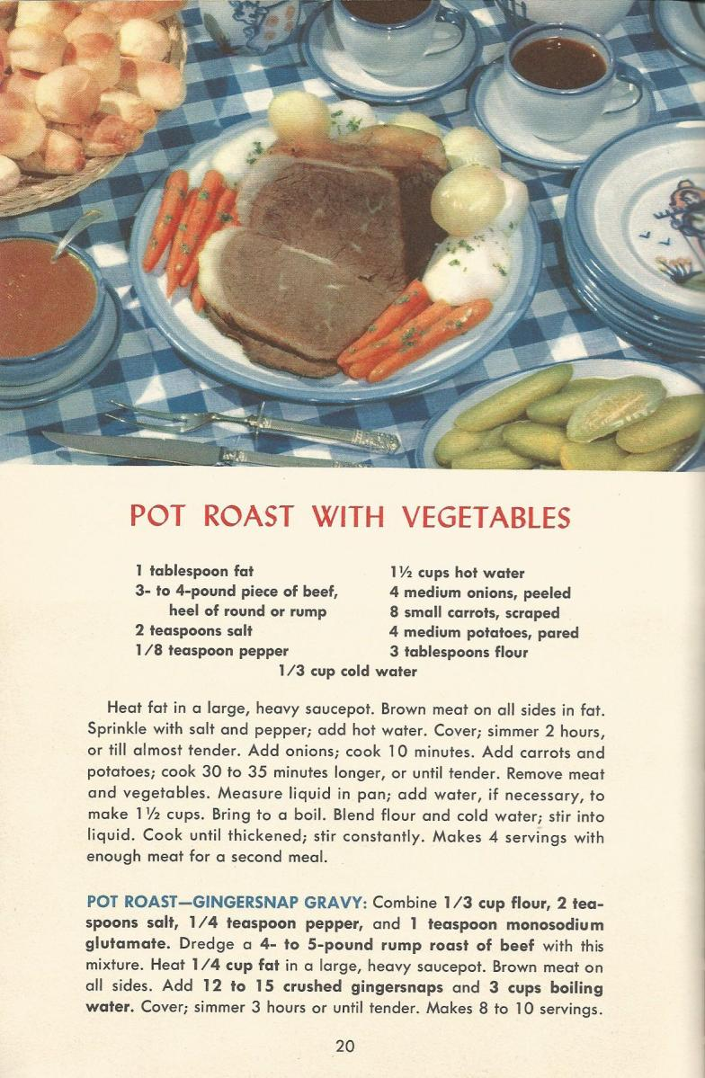 1950s, meat recipes, vintage recipes