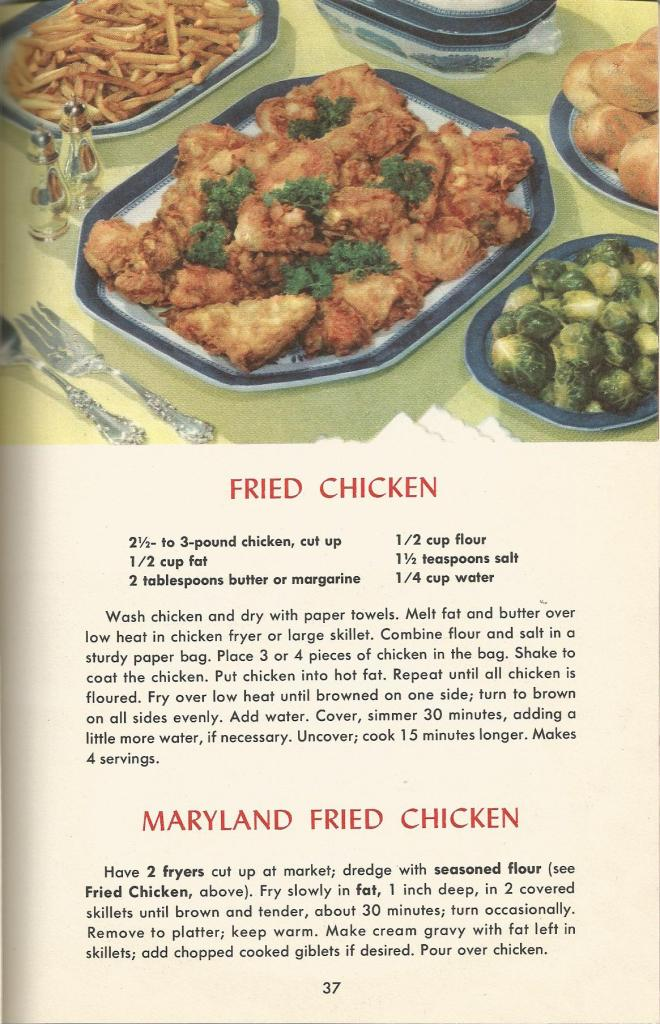 vintage recipes, chicken, stuffing