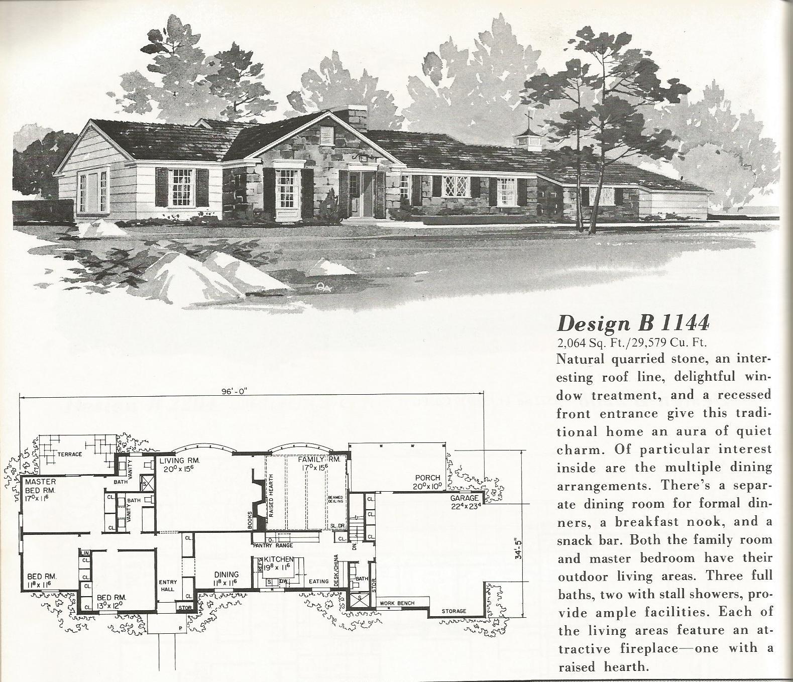 Vintage house plans 1144 antique alter ego for Retro house plans