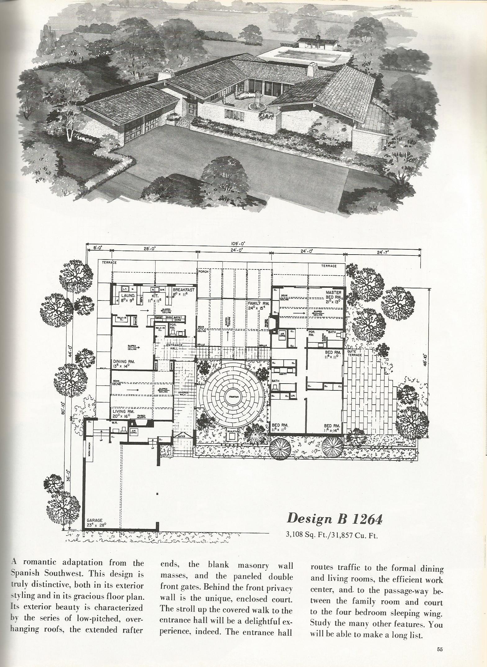 Vintage house plans 1264 antique alter ego for Retro house plans