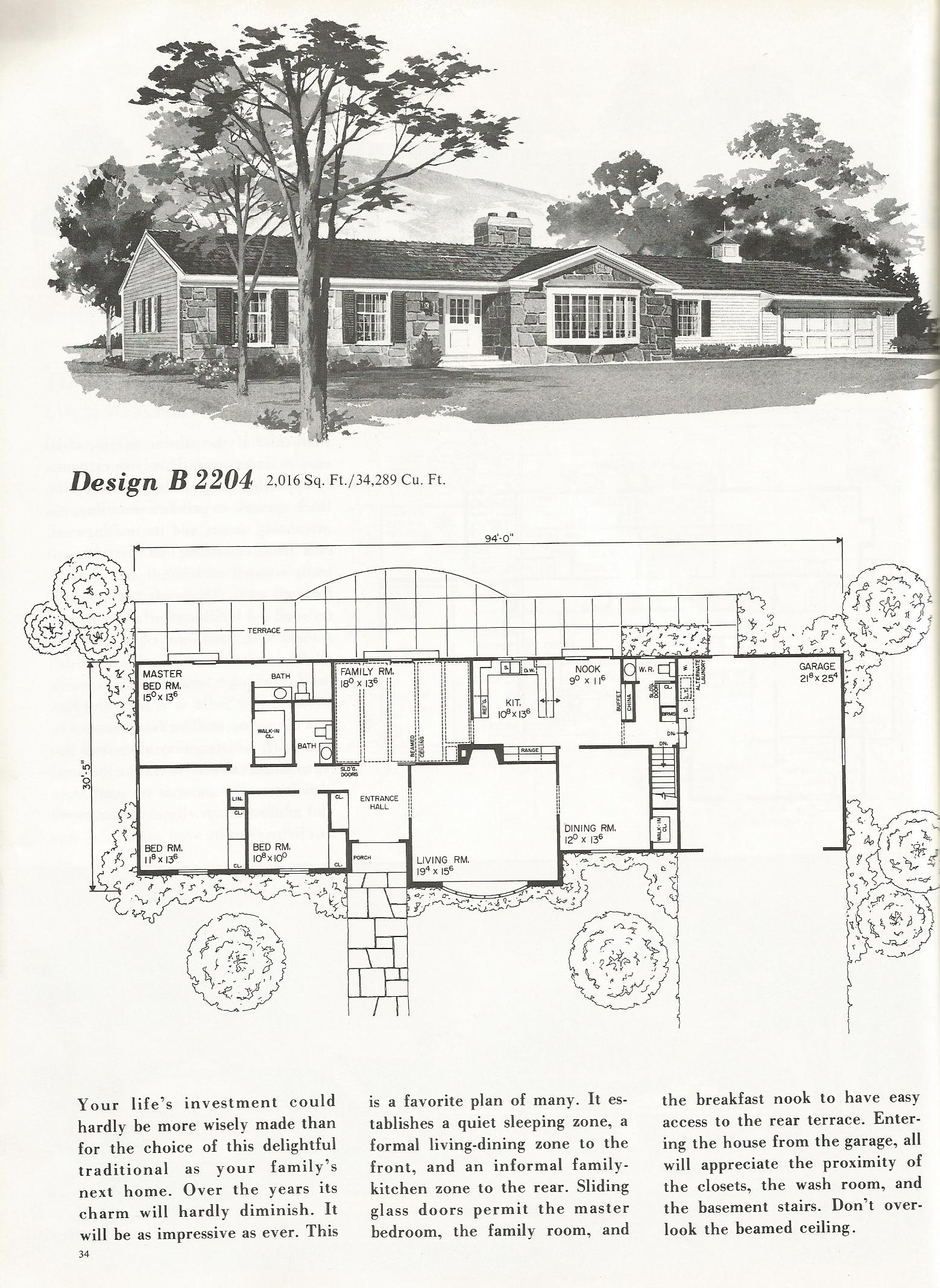 Vintage House Plans 2204 Antique Alter Ego