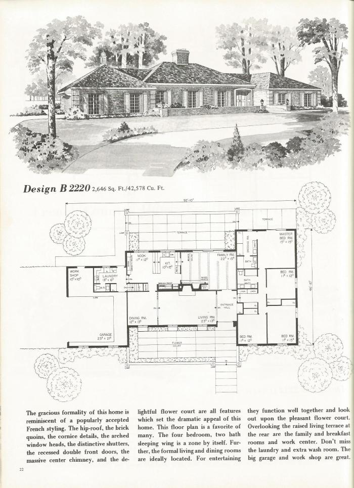 Vintage house plans french country and tudor styles for Classic tudor house plans