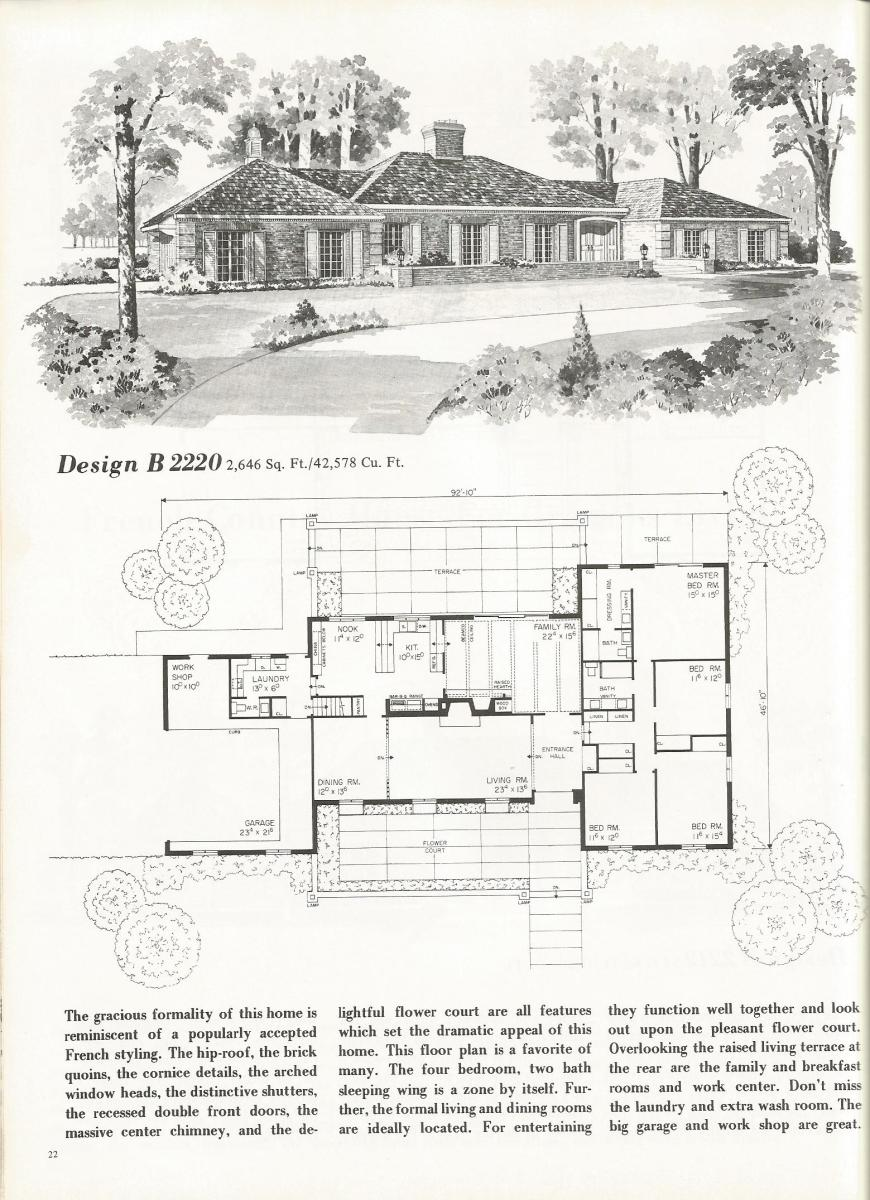 Vintage house plans 2220 antique alter ego for French country tudor house plans