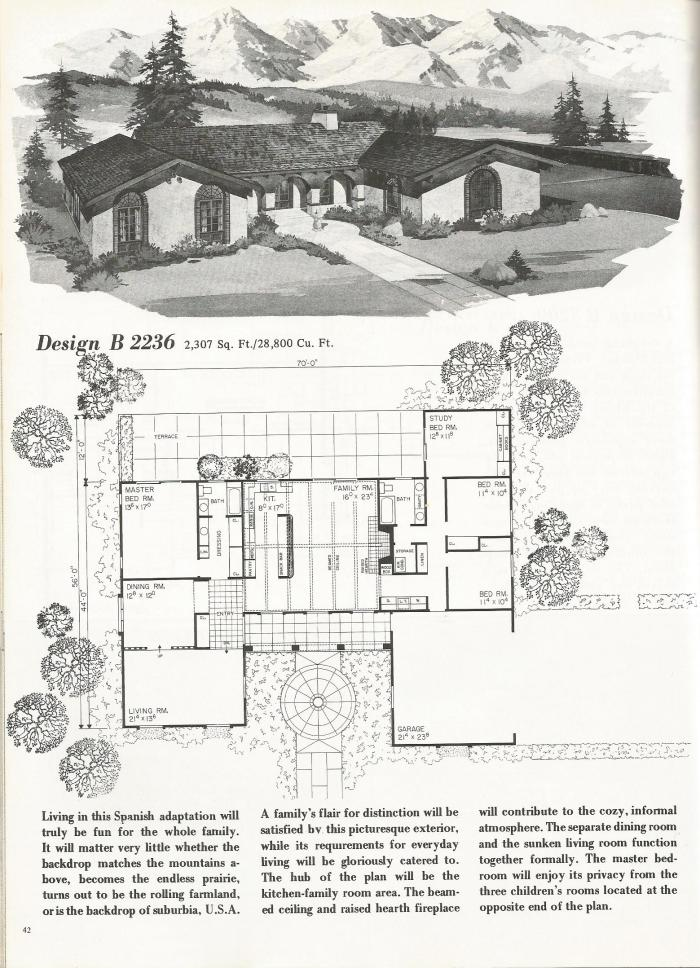 Vintage House Plans Spanish Style Homes