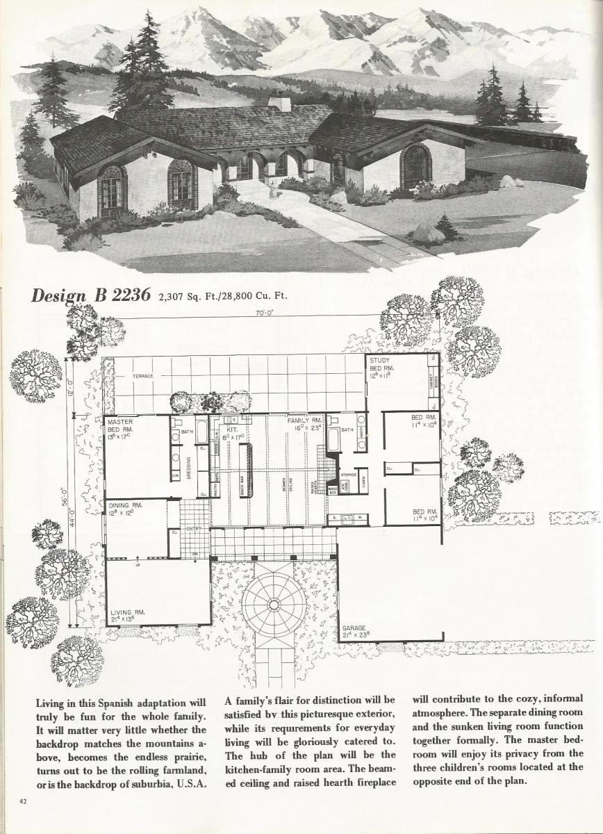 Vintage House Plans, Spanish Style Homes
