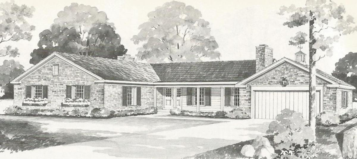 Vintage House Plans: One Story Homes Over 2000 Square Feet