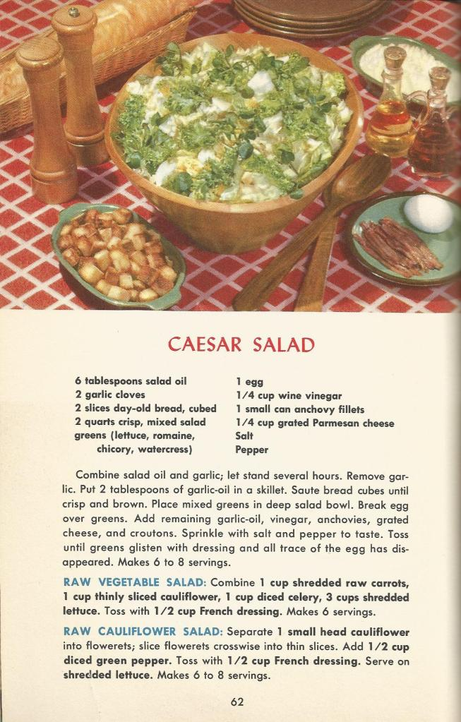 Vintage Recipes, 1950s Salads