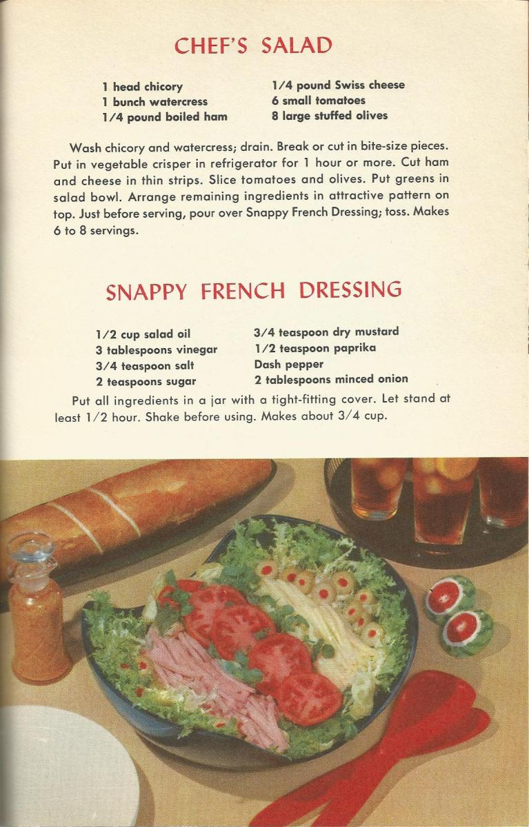 Vintage Recipes, 1950s Salads