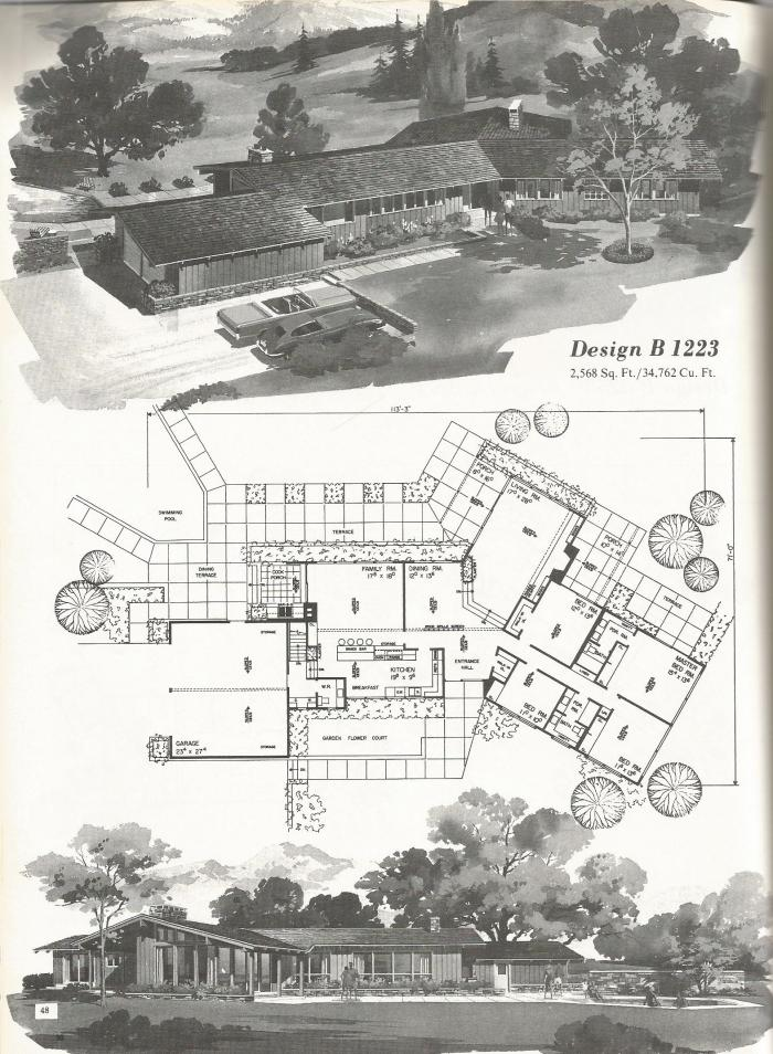 Vintage House Plans Western Ranch Style Homes Antique Alter Ego