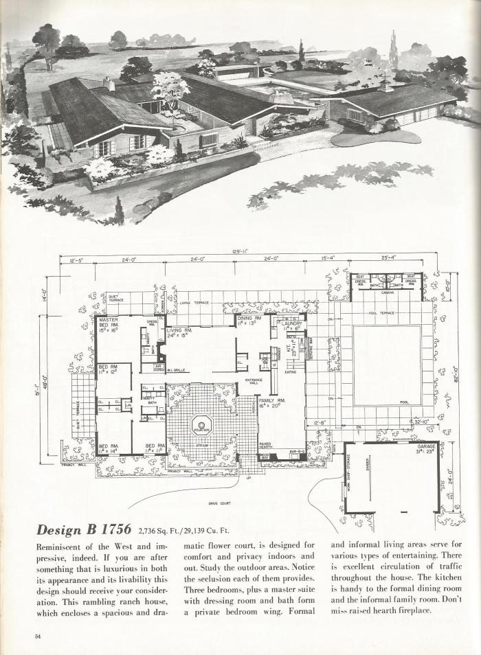 Fine Vintage House Plans Western Ranch Houses With Design