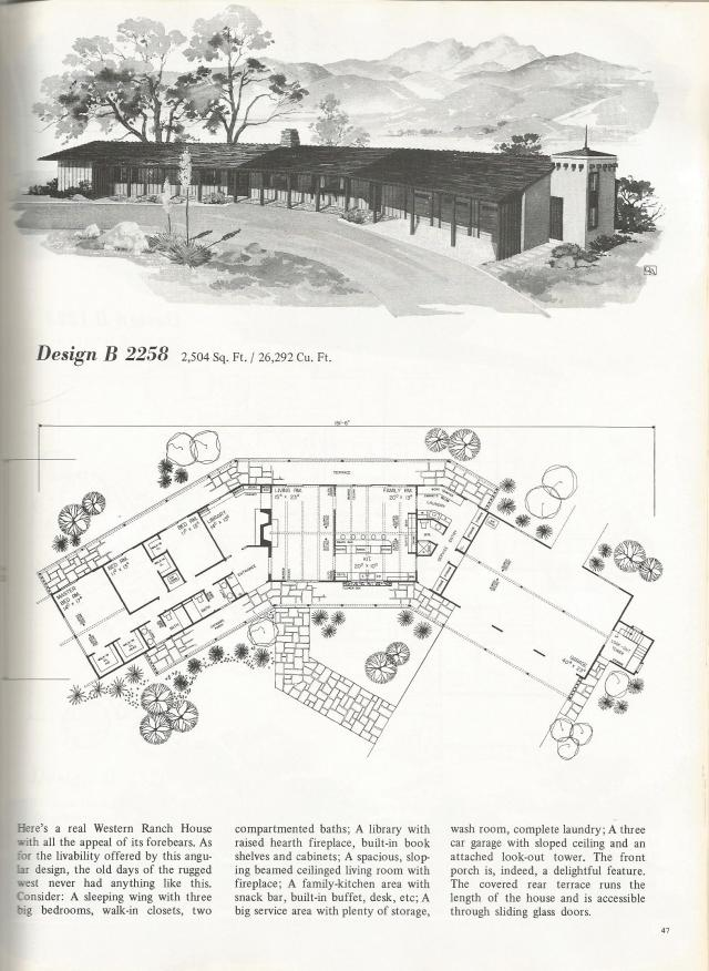 Vintage house plans western ranch style homes antique for Vintage home plans