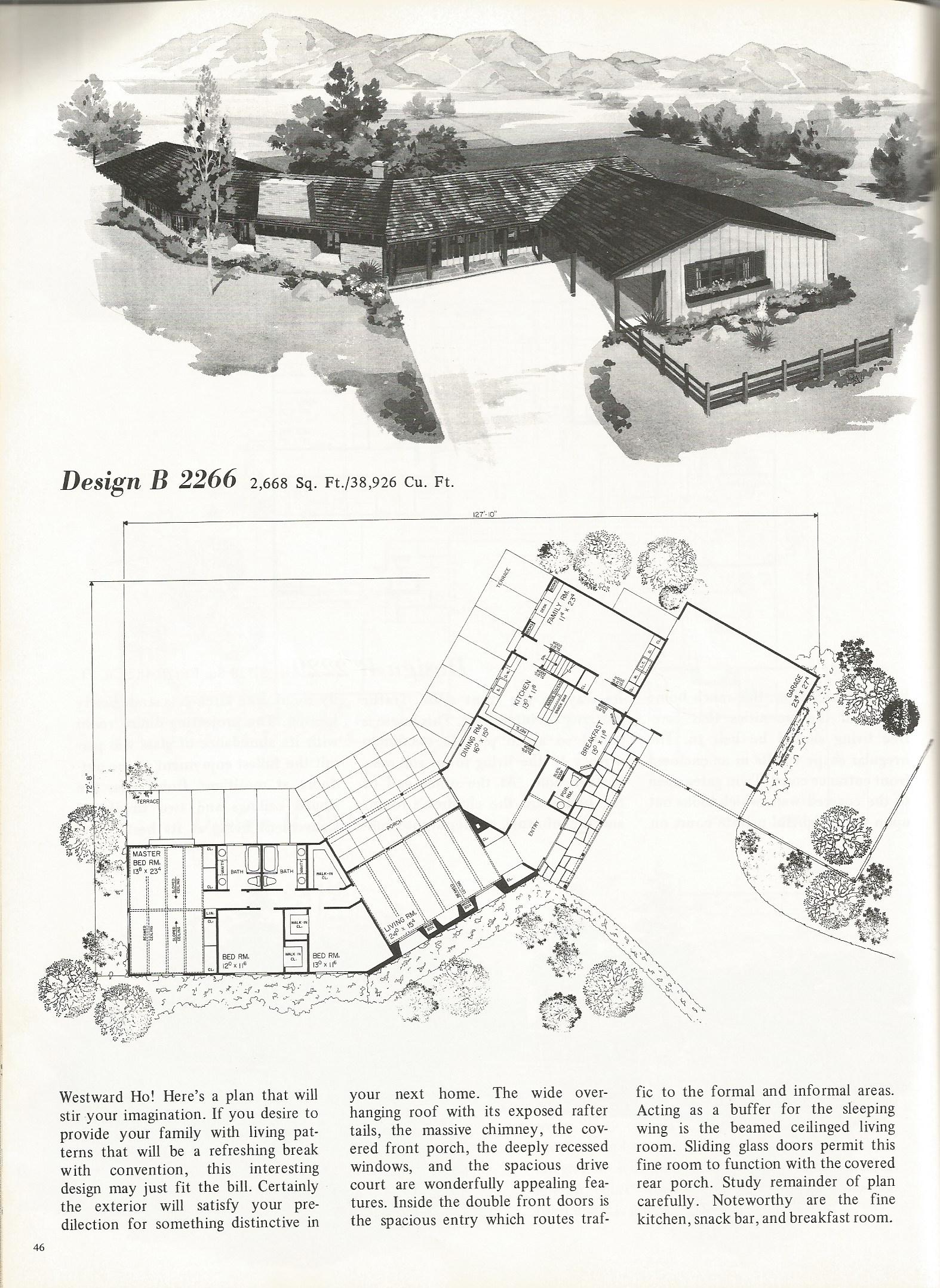 Vintage house plans 2266 antique alter ego for Western homes floor plans