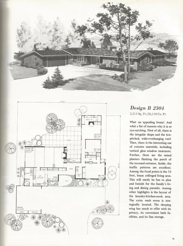 Vintage House Plans Luxurious One Story Homes Antique