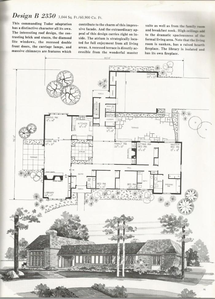Vintage house plans luxurious tudor style homes antique for Tudor mansion floor plans