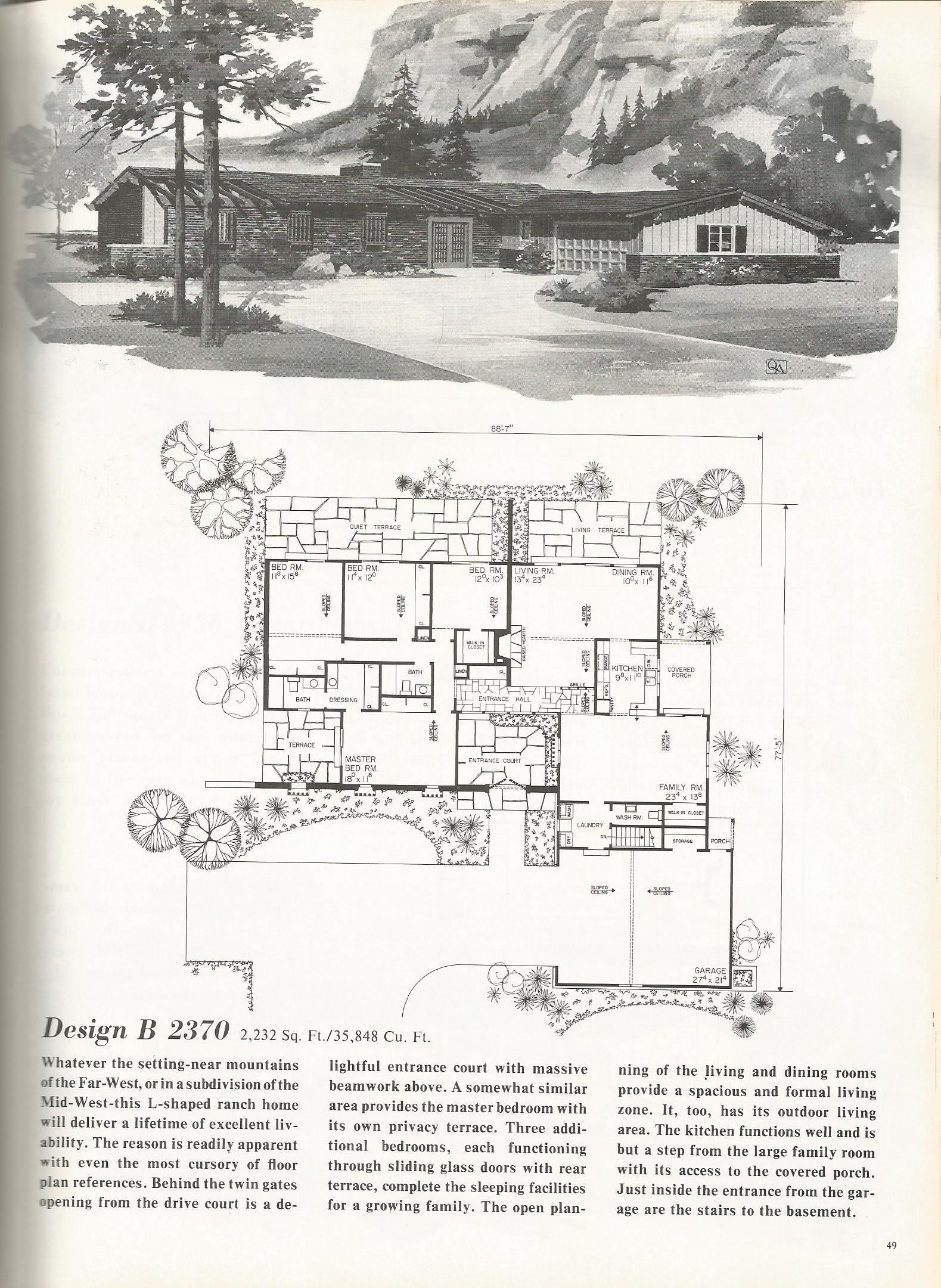 Vintage House Plans 2370 Antique Alter Ego
