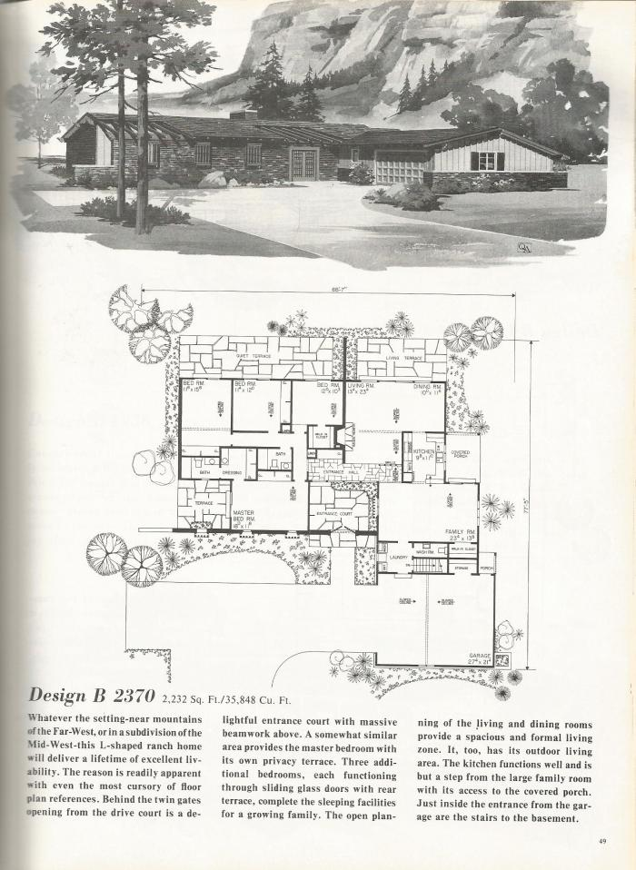 vintage house plans western ranch style homes