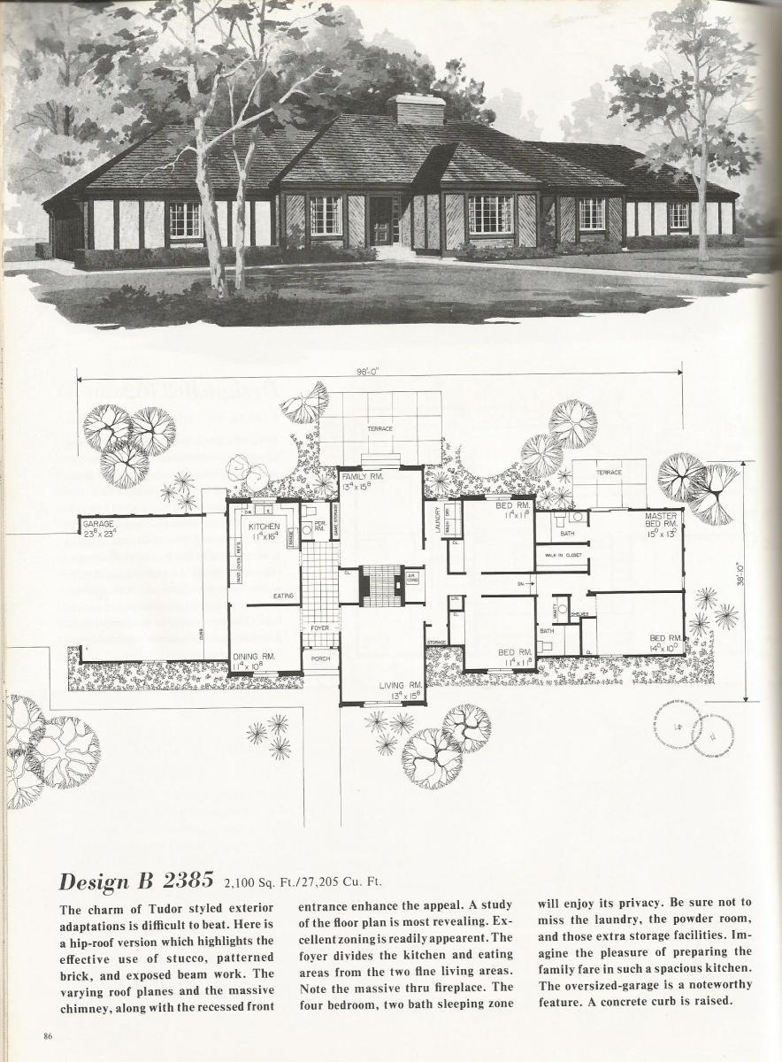 Vintage House Plans, Luxurious Tudor Style Homes