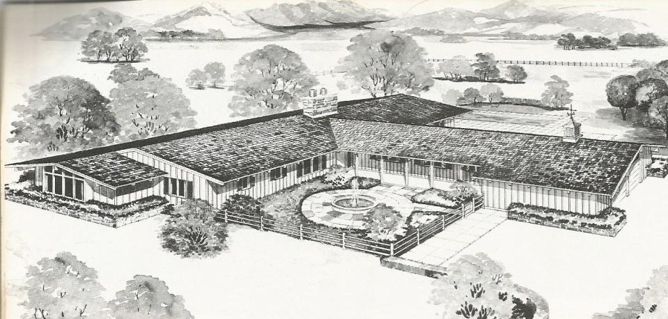 Vintage house plans a antique alter ego for Western ranch style house plans