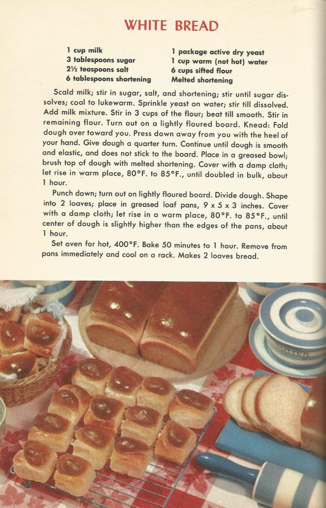 Vintage recipes, 1950s recipes, breads, muffins, doughnuts