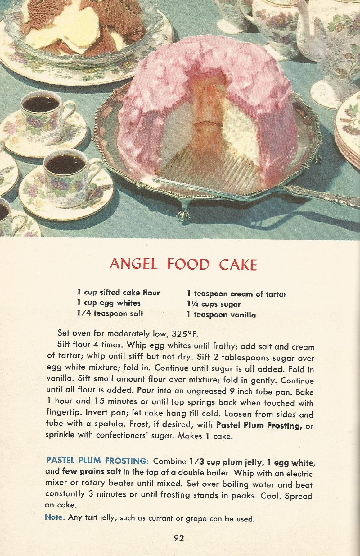 Vintage recipes 1950s cakes angel food cake antique alter ego vintage recipes 1950s cakes angel food cake forumfinder Image collections
