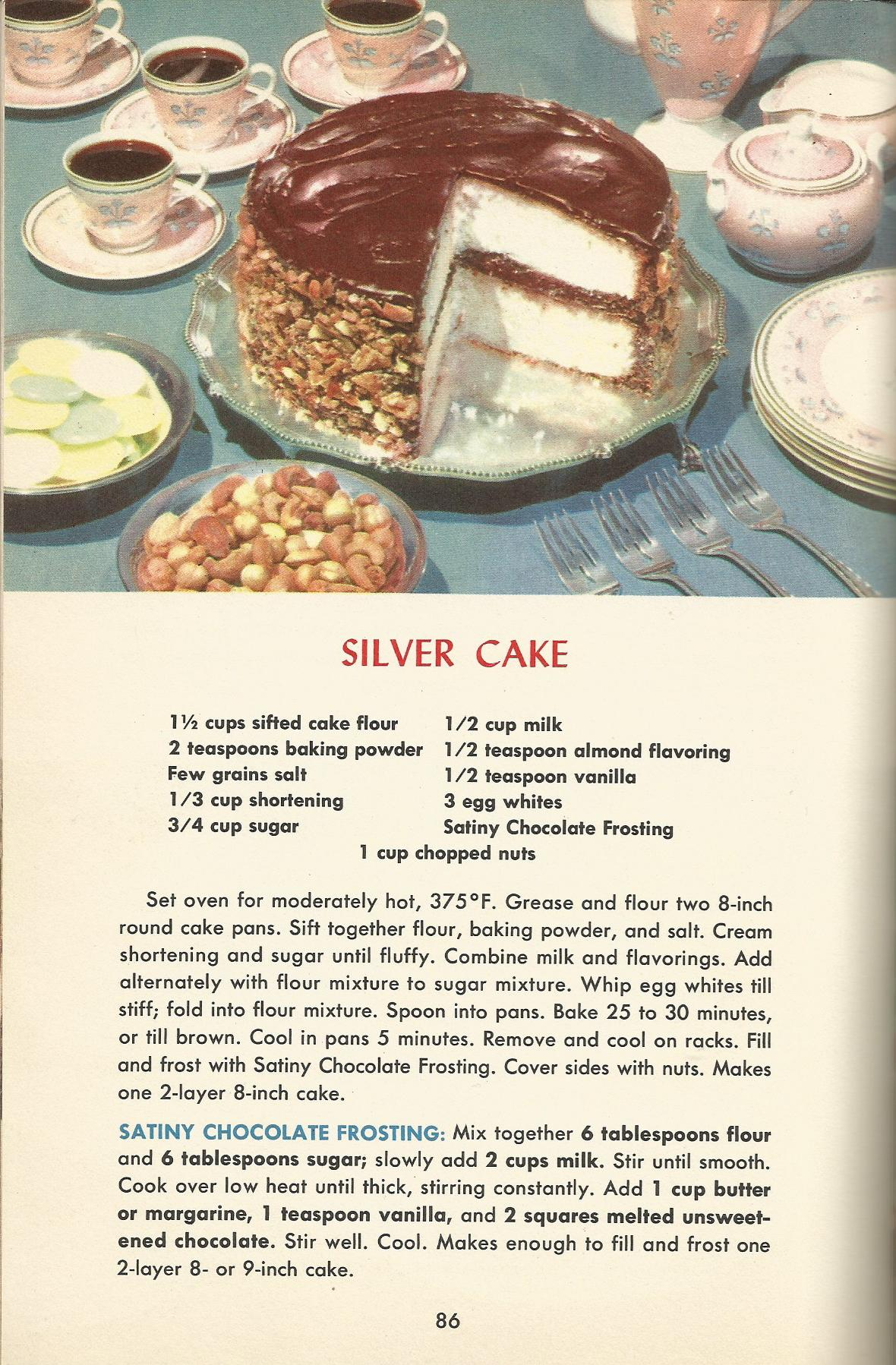 Vintage American Cake Recipes