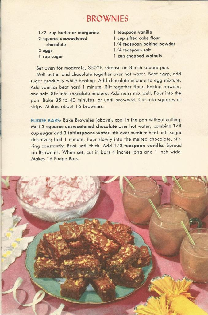 vintage recipes, 1950s recipes, 1950s cookie recipes