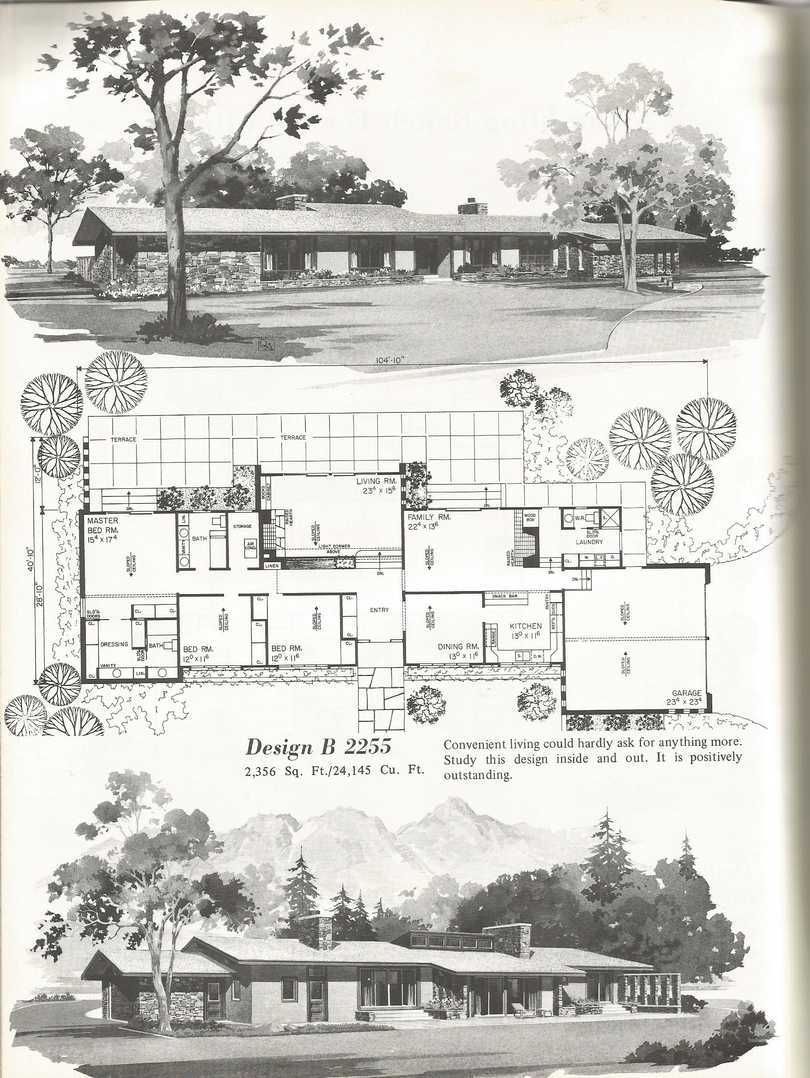 Vintage house plans 2255 antique alter ego for Palatial home designs