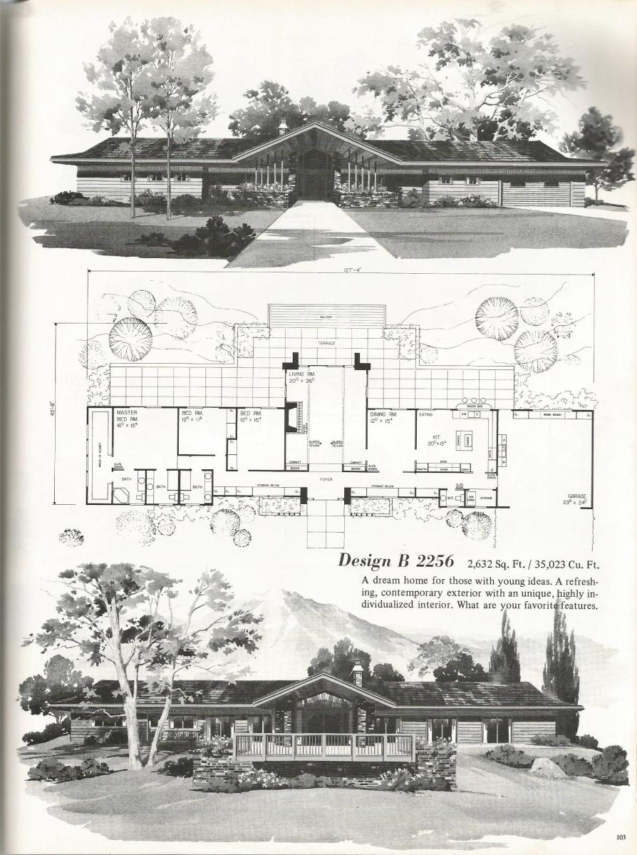 Vintage house plans 2256 antique alter ego for Palatial home designs
