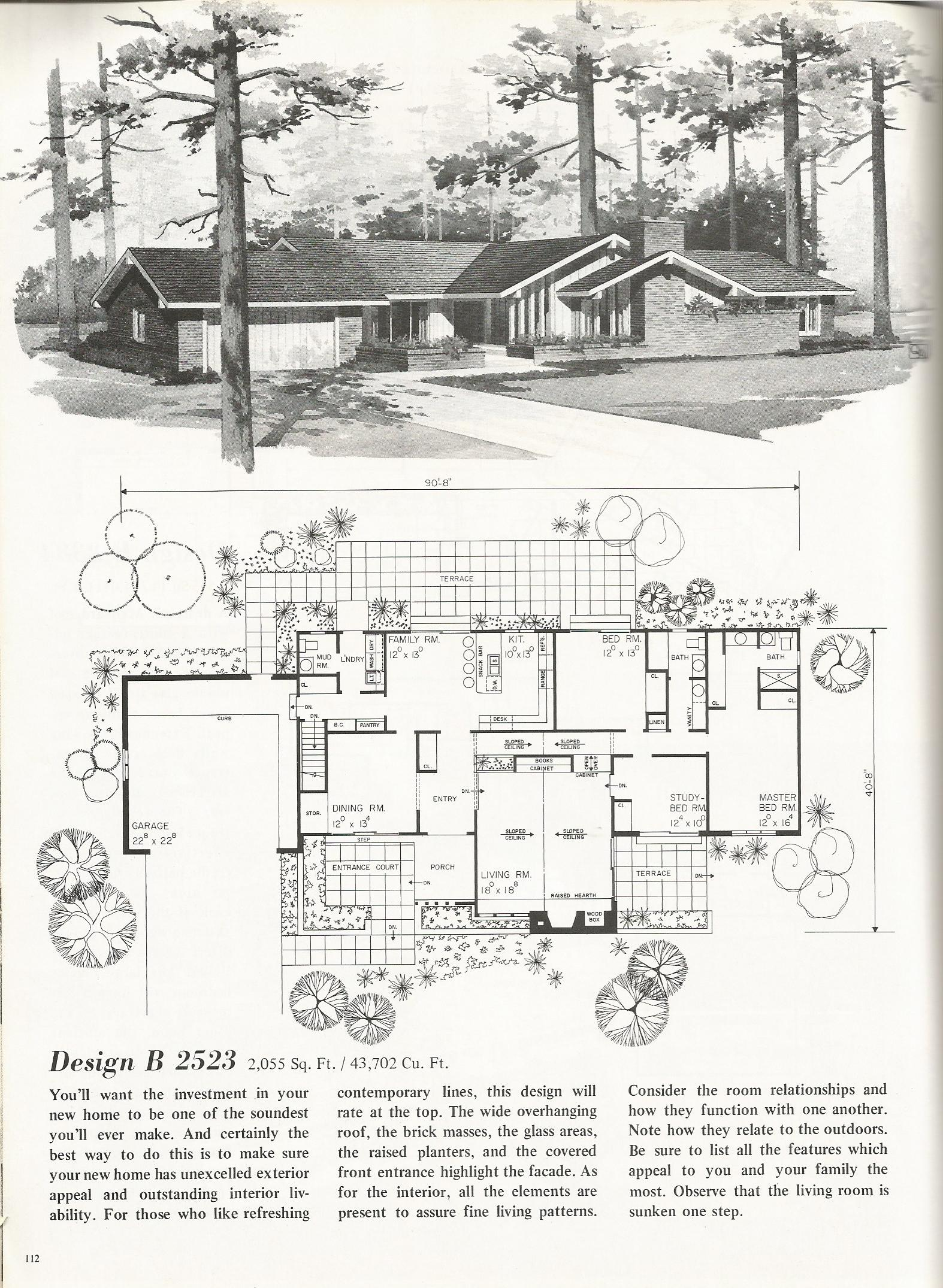 Vintage House Plans 2523 Antique Alter Ego