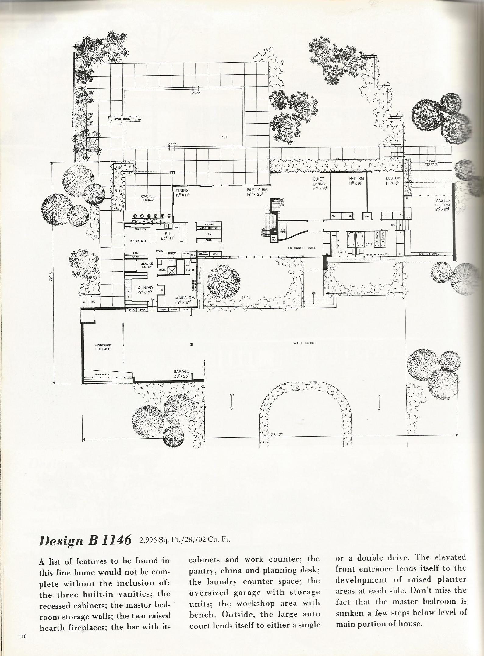 Vintage house plans country estates 1146a antique alter ego for Large estate home plans