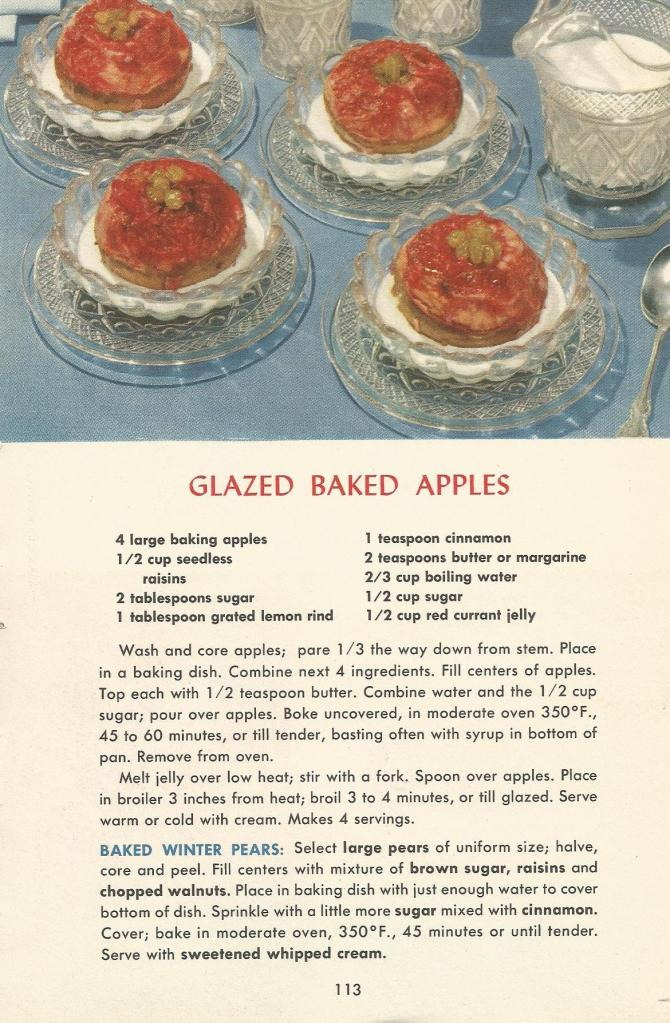 Vintage Recipes, 1950s Dessert Recipes