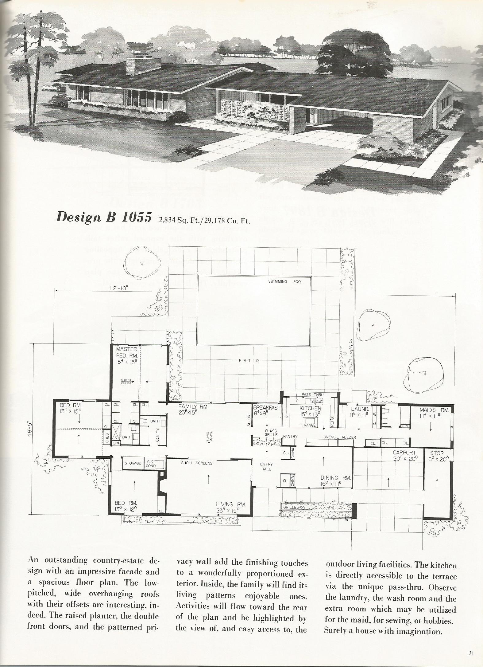 vintage house plans 1055
