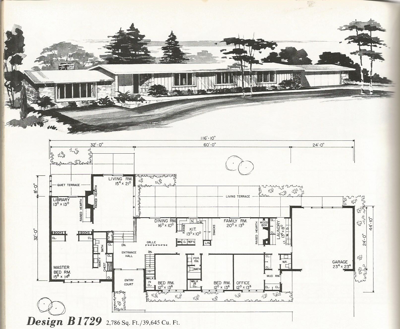Vintage house plans 1729 antique alter ego for Retro house plans