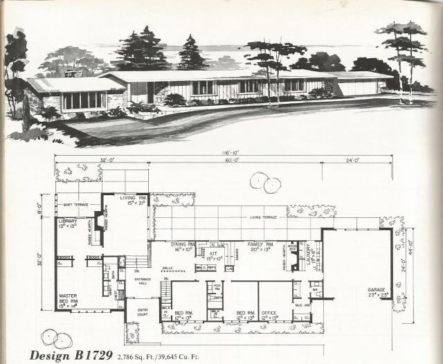 Vintage House Plans Mid Century Contemporary Antique