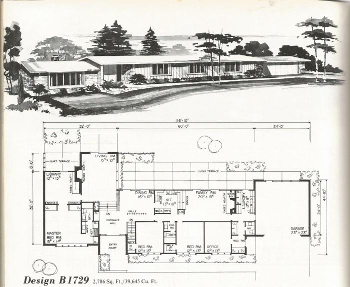 Vintage house plans mid century contemporary antique for Mid century home plans