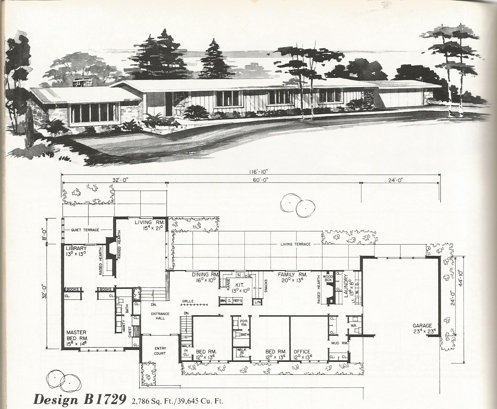 Superb Mid Century House Plans #9: Vintage House Plans, Vintage Homes, Mid Century Homes