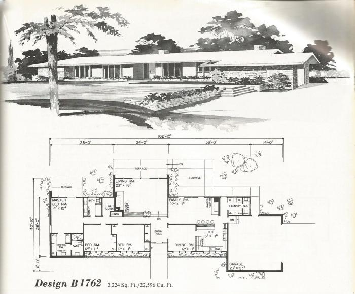 Vintage House Plans: Mid Century Contemporary
