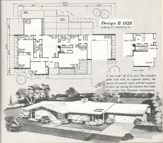 Vintage house plans mid century contemporary antique for Vintage ranch house plans