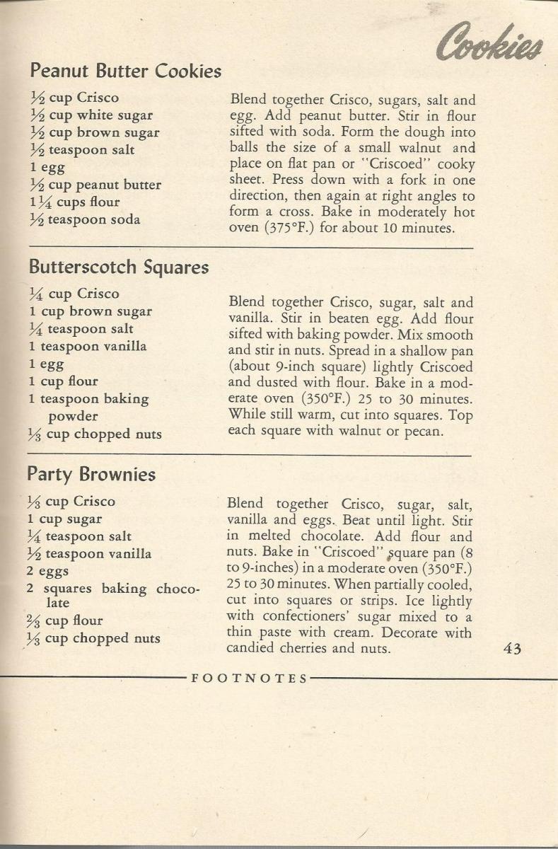 Vintage Recipes, 1940s Cookies