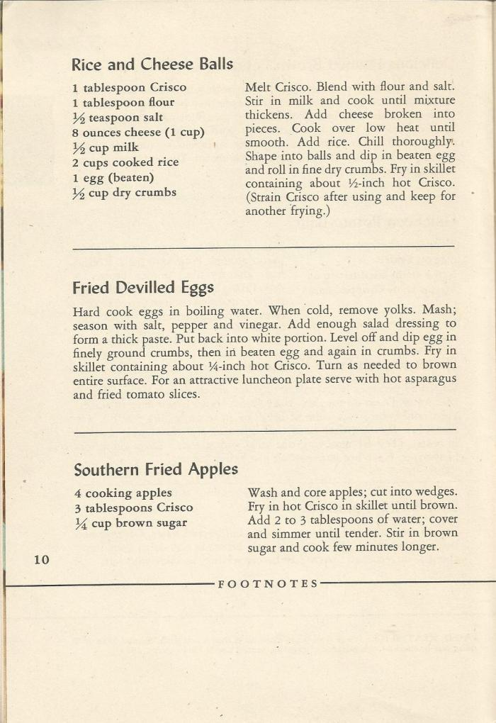 Vintage Recipes, 1940s, Fried Foods